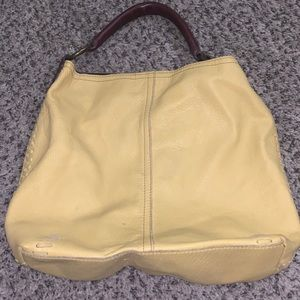 Lucky brand yellow tote